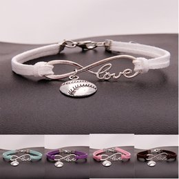softball numbers Coupons - New Punk Sports Antique Silver Half Face Softball Pendants Charms Bracelets For Friends Gift Men Women Casual Softball Jewelry Holiday Gift