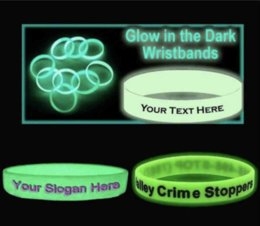 Wholesale Glowing Bands - Wholesale 500pcs lot customized glow in the dark silicone bracelets  wristband for kids. adult promotional gift,sports band DHLFREE SHIPPING
