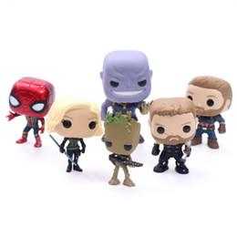 Argentina Marvel Avengers 3 Figura de acción Guerra infinita Funko Pop Thor Spider-man Derrota Capitán América Personalidad Figura de moda Muñeca supplier avengers thor doll Suministro