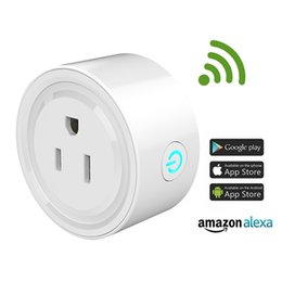 Wholesale Android Home Plug - Smart Wifi Socket Switch Round US Plug Remote Control Socket Outlet Timing Switch for Smartphone Android IOS Home Automation