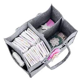 Canada 1 Pcs Pliable Feutre Sac À Couches Bébé Vêtements Enfants Jouets Organisateur Maman Sac Portable Couche Caddy Organiser Poche Sacs cheap felt baby toys Offre