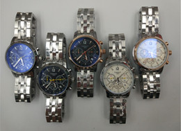 Wholesale Best Quality Wrist Watch - New Men clock aAA Quality Full Stainless Steel Luxury Watch Men Watches Brand Quartz movement Wrist watch Best Full small work Montre homme