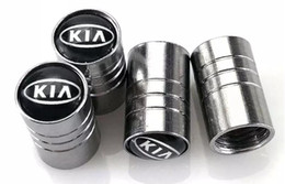Wholesale Kia Car Emblem - Auto Car Wheel Tire Valves Emgrand Emblem Badge for Kia rio ceed sportage cerato soul k2 Tyre Stem Air Caps Car Styling 4pcs lot