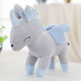 Wholesale Unicorn Plush Toys - Cute Plush Unicorn 32cm 12.6 Inch Stuffed Animal Gerbil Plush Toy Unicorn Kids Gift Four Colors