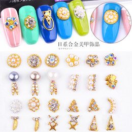 Poly paillettes en Ligne-Nail Art Glitter Nice Crystal Faux Ongles Hexagone Mix Poly Gel Nail Feuille Sequins Décorations Faux Ongle Manucure Or Blanc