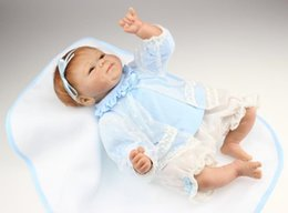 Wholesale Diy Nano - Emulation Doll Baby High Grade Gift Silicone Reborn Babies Collection Handmade Goodlooking Toy Doll Silica Child Cotton Baby