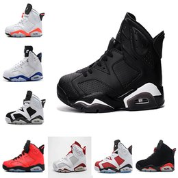 Wholesale Cheap Baskets For Sale - 2018 cheap 6 6s mens basketball shoes UNC Infrared maroon Carmine Olympic red black cat Angry bull Sneaker For Online Sale size 8-13