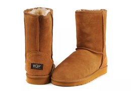 Wholesale cheap brown high heels - 2018 New WGG Australia Classic snow Boots Cheap winter Knee Boots fashion discount Ankle Boots shoes many colors for woman size 5-10