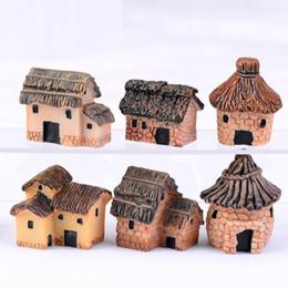 Miniatura argilla online-2pcs / lot Carino Resina Artigianato Casa Fairy Garden Miniature Gnome Micro paesaggio Decor Bonsai per la casa Decor 3cm