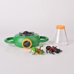Juguetes de insectos para niños online-Bug Box Magnify Insects Viewer 2 Lente 4x Lupa de aumento Childs Kids Toy Entomologists Free DHL 861