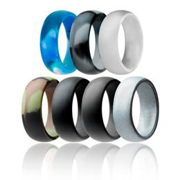 2019 canali impostati Anello in silicone flessibile con O-ring Anello confortevole con anello leggero per uomo. Design comodo per uomo multicolore