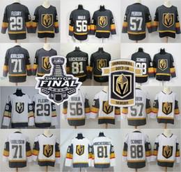 f2373efb3 2018 Stanley Cup Finals Vegas Golden Knights 29 Marc-Andre Fleury Jerseys  67 Max Pacioretty 18 James Neal 56 Erik Haula Karlsson Inaugural vegas  golden ...
