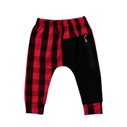 Moda para niños pequeños Niños Niños Chaquetas Pantalones de pantalón con pantalón Panty Pantalones Harem Pantalones Casual Negro Lápiz rojo 1-6Years desde fabricantes