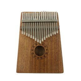 Wholesale fingers music - 17 Keys Thumb Piano Kalimba Mahogany with Tuning Tool & Phonetic Sticker, Thumb Piano African Finger Percussion Keyboard Portable Music Inst