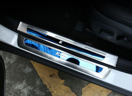 Wholesale Door Sill Kia - High quality stainless steel 8pcs car door sills scuff footplate, protection decoration plate for Kia Sportage KX5 2016-2018