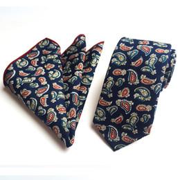 Оптовая шеи галстук + носовой комплект Мужчины Женщины универсальный цветочный галстук 6 см хлопок галстук с квадратный шарф унисекс галстуки от Поставщики квадратные цветочные шарфы оптом