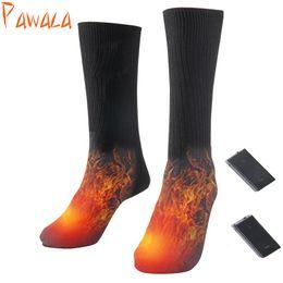 calcetines de bolos al por mayor Rebajas Calcetines térmicos de algodón calcetines deportivos calcetines de esquí de invierno calentador de pies Calcetín de calentamiento eléctrico batería de energía hombres mujeres de alta calidad