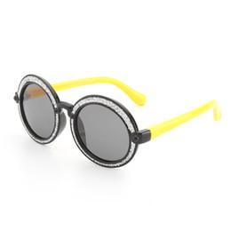 Chiaro ornamentale online-Occhiali da sole per bambini Boy Clear Occhiali rotondi Montature Occhiali da sole Polarizzati 2018 Uv400 Protezione flessibile ornamentale Can Mix Color