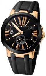 Caras de reloj de pulsera online-Top vende hombre reloj cara negra acero inoxidable movimiento automático para hombre reloj de pulsera mecánico Relojes UN11