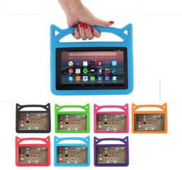 2019 eva kids capa para comprimidos Bonito Crianças Lidar Com EVA Espuma À Prova de Choque Kid-Proof Tablet Capa para iPad Mini 123/4 Ar 5/6 Novo ipad 2017/2018 Kindle Fire 7 desconto eva kids capa para comprimidos