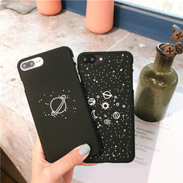 iphone hard case Promo Codes - Black Hard PC Lovers Space Star Planet Phone Case Cover For iphone X 7 8 Plus For iphone 6 6s Plus Cases