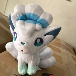 "Wholesale vulpix plush - 2018 New High Quality 8"" 22cm Plush Toy Sun and Moon Alola Vulpix Plush Doll Stuffed Animals Toy Kids Gifts Free Shipping"