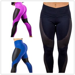 668472e6 girls navy pants Promo Codes - Woman Yoga sport Leggings Patchwork Female  Mesh Sexy Girls Pants Find Similar