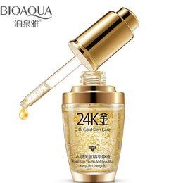 K кремовый онлайн-2018 новый BIOAQUA 24K Gold крем для лица увлажняющий 24 K Gold Day Cream Увлажняющий 24k Gold Essence сыворотка для женщин уход за кожей лица