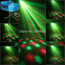 Wholesale Family Holiday Party - New Mini Red Green 24 patterns Projector Laser Stage Lights Disco DJ Holiday House Home Club Xmas Family Dace Party light RR24
