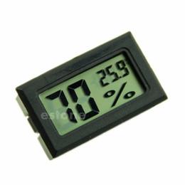 Deutschland Hygrometer-Thermometer-Digital-LCD-Temperatur-Feuchtigkeits-Meter -50 ~ 70degree 10% ~ 99% RH Weiß Schwarze Farbe Versorgung