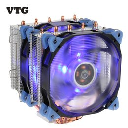 Wholesale Desktop Amd - VTG 5 Heatpipe Radiator 4pin CPU Cooler Fan Cooling 5 Direct Contact Heatpipes with 120mm Fan for Desktop Computer PC Case Intel