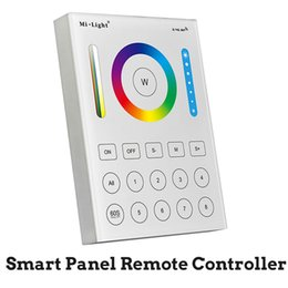 Wholesale temperature controller wireless - BSOD LED Samrt Panel Remote Controller Milight Wireless B8 RGB CCT Adjustable Color Temperature 8 Zones RF2.4G Touch Panel Wall