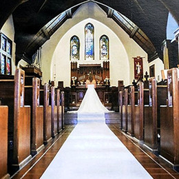 Corredor de la alfombra blanca de la boda online-Wedding Runner Runner 30mx90cm Blanco Floral Alfombra Wedding Carpet Party Decoration Nonwoven Runner Para Iglesia Etapa Hall manta