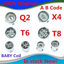 Wholesale Head Coils - 100% Authentic TFV8 BABY Beast Tank Coils Head V8 Baby-T8 T6 X4 M2 Q2 Core in stock now Free shipping with DHL