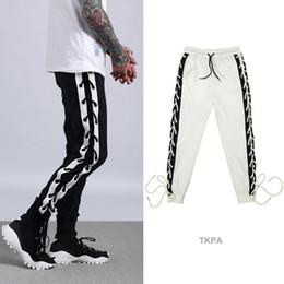 Wholesale Hip Hop Mens Wear - Fashion Mens Side Stripe Joggers Hip Hop Male Sport Pants Casual Loose Justin Biber Wear Clothing Trousers Sweatpants Jogger US Size
