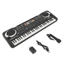Teclado musical de juguete online-Multifunción Delicado 61 Teclas de Música Digital Tablero de Teclado Electrónico Juguete de Regalo Eléctrico Piano Organ Musical Organi Electrón