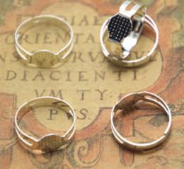 einstellbare ringe Rabatt 20 teile / los Einstellbare Ring Basis Ringrohlinge mit 8mm Kleber Pad