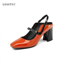 Wholesale Red Star Pump - wholesale full grain leather Korean girl shoes women vintage white green color squre toe square high heel movie star women pumps