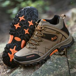 Zapatos de senderismo de invierno de gran tamaño de otoño para los hombres Respirable Caza impermeable antideslizante Turismo Tendencia Zapatillas de deporte Zapatillas deportivas US6.5 - US12 desde fabricantes