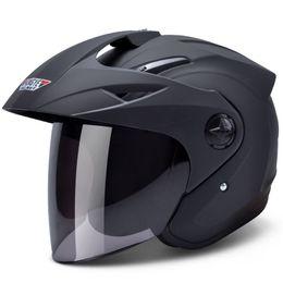 Anti nevoeiro capacete on-line-Capacete da motocicleta H618 meia face capacetes de bicicleta elétrica UV protetor solar anti-fog manter quente capacete de ciclismo Casque De Moto