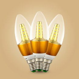 cambio de color de escenario bombilla led Rebajas Lámpara LED de 5W E14 E27 Bombilla de vela Cristal brillante alto claro para lámpara de araña de cristal