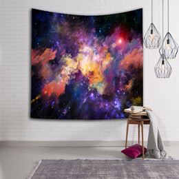 Wholesale beautiful weave - 3D Galaxy Hanging Wall Beautiful Tapestry Hippie Retro Home Decor Yoga Beach Towel For Living Room Bedroom Easy To Clean