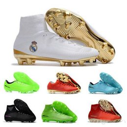 Canada 2017 Nouveau CR7 Enfants Chaussures De Football Rouge Or Mercurial Unisexe Superfly V Soccer Crampons Cristiano Ronaldo Hommes Enfants chaussures de football Magista Obra cheap new cr7 soccer cleats gold Offre