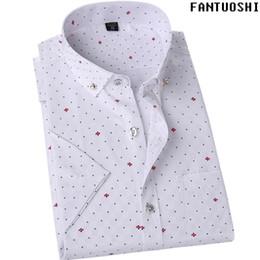 Wholesale High Quality Tuxedos - Summer 2018 new fashion brand men's clothing short sleeved shirts men's casual clothes social shirts high quality Tuxedo