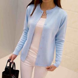 Wholesale Cardigan College Sweater Women - 2017 Winter Women Cardigan Girl Sweater College Style Candy Color Long Sleeve Cute Kawaii Sweater Cardigan Female Women Jacket