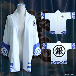 kimono kawaii Sconti Cappotto Gintama giapponese mantello haori cos kimono Formato libero vestiti kawaii anime cosplay cos Unisex