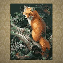 Wholesale Paint Number Kit Oils - Frameless Animal Pictures DIY Oil Painting By Numbers Kits Paint On Canvas Acrylic Coloring Painitng For Home Wall Decor ZDT1