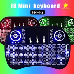 2019 rii i8 bluetooth Mini I8 Backlit Wireless Touchpad Tastatur Air Maus Multifunktions Für PC Pad Android TV Box mit Kleinpaket