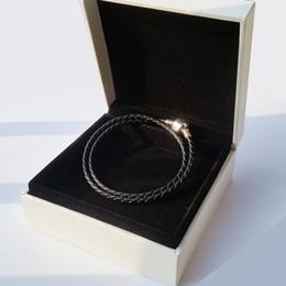 кожаный браслет двойных слоев Скидка Аутентичные стерлингового серебра 925 реального двойной слой кожаный браслет оригинальный футляр для Pandora подвески бусины женщин мужские браслеты