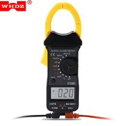 2020 morsetti ad ac Digital Clamp Original WHDZ Mini Digital Clamp Meter Amperometro AC / DC Voltaggio AC Current Auto Range LCD Multimetro Tester diodi sconti morsetti ad ac